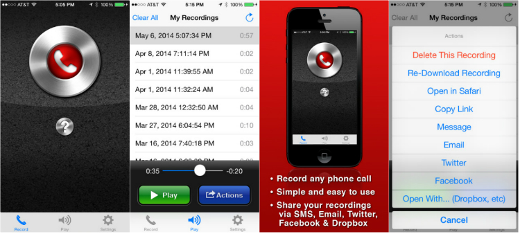 Call Recorder Free - Automatic Call Recorder App for iPhone