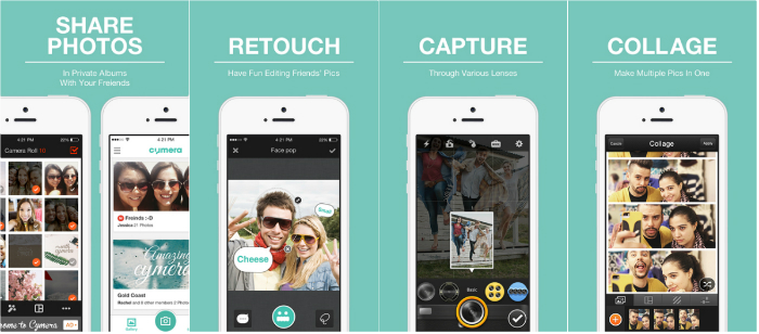 Cymera-Selfie Apps For iOS and android