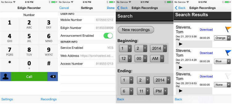 Edigin Call Recorder for iOS - Appdazzle