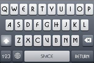 Font keyboard