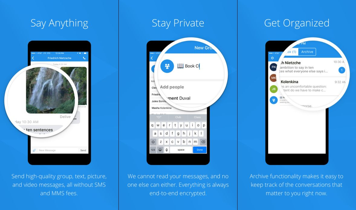 Private Messaging Apps for iOS Devices
