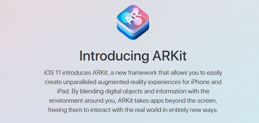 ARKit is a new framework that allows you to easily create augmented reality Apps and Games for iPhone and iPad.