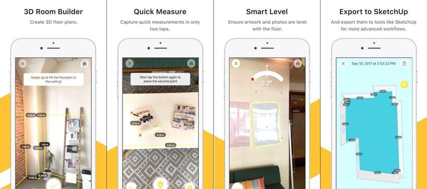 TapMeasure AR app